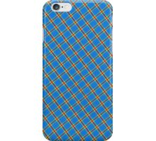 Blue Yellow and Red Plaid Fabric Design iPhone Case/Skin