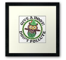 Woodsy The Owl Framed Print