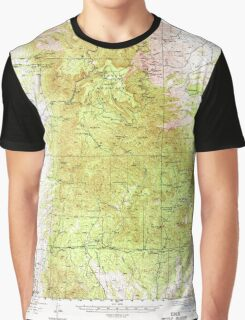 USGS TOPO Map Arizona AZ Mingus Mtn 314802 1944 62500 Graphic T-Shirt