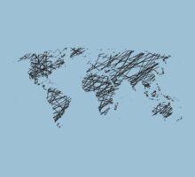 Scribble world map Kids Tee