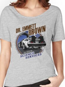 Dr Emmet Brown Science Services Women's Relaxed Fit T-Shirt