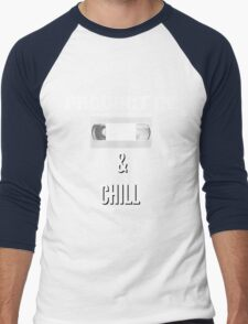 Product of VHS and Chill for Millennials  Men's Baseball ¾ T-Shirt