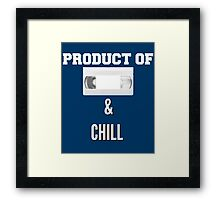 Product of VHS and Chill for Millennials  Framed Print