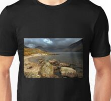 Rocks and Canoe, Wastwater. Unisex T-Shirt