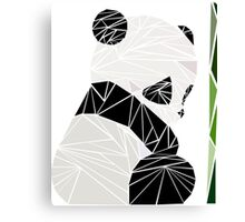 Geometric sad panda Canvas Print