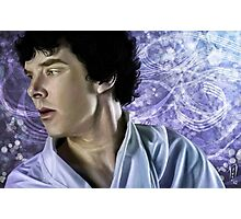 Swirly Sherlock Photographic Print