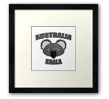Koala vintage design - Australian animal  Framed Print