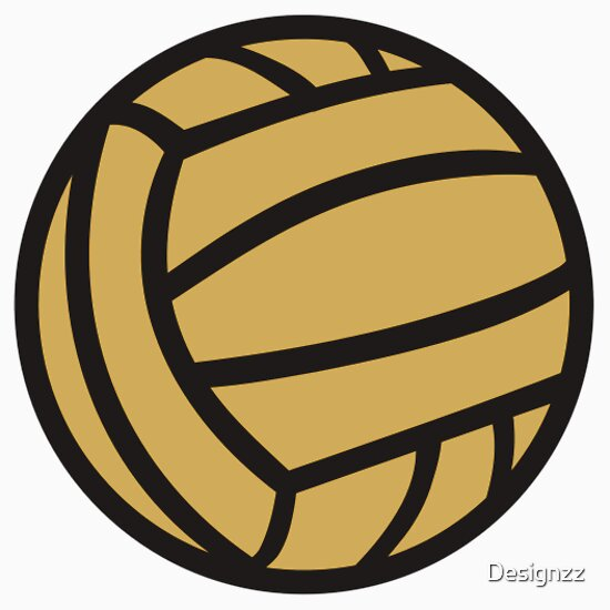 Water Polo Ball Drawing Water Polo Ball Sticker