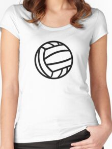 Water Polo ball logo Women's Fitted Scoop T-Shirt