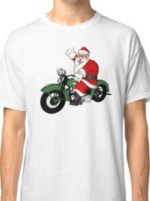 Biker Santa Claus  Classic T-Shirt
