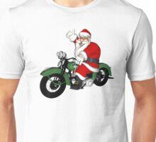 Biker Santa Claus  Unisex T-Shirt