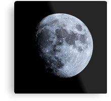 Three quarter Moon image and pattern Metal Print