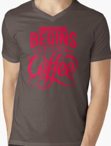 Coffee Quote Mens V-Neck T-Shirt