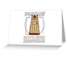 Vitruvian Dalek Greeting Card