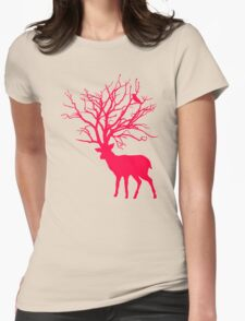 Deer Tree Womens Fitted T-Shirt