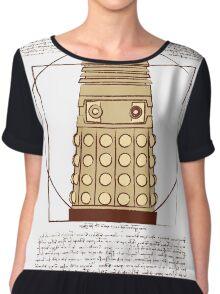 Vitruvian Dalek Chiffon Top