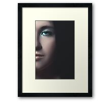 mystical portrait of a girl Framed Print