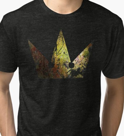 Kingdom Hearts Crown grunge universe Tri-blend T-Shirt