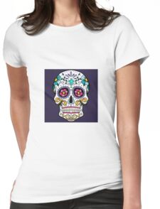 Sugar candy skulls Womens Fitted T-Shirt