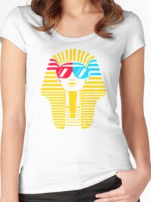 Egyptian With 3d Glass Women's Fitted Scoop T-Shirt