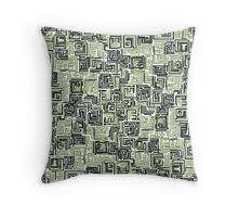 Tetris-Green/black Throw Pillow