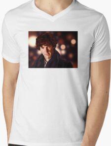 Sherlock Portrait Mens V-Neck T-Shirt