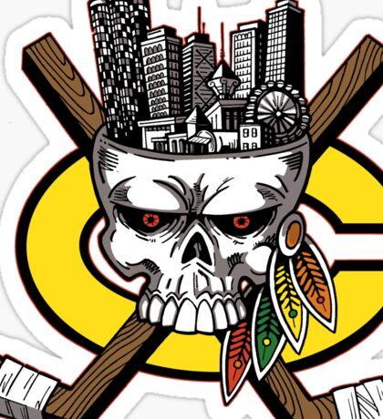 Go Chicago Skyline Sticker