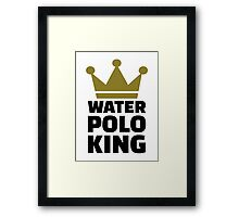 Water polo king crown Framed Print