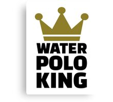 Water polo king crown Canvas Print