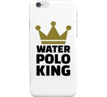 Water polo king crown iPhone Case/Skin