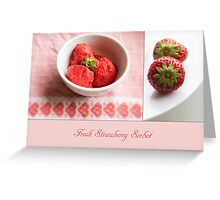 Fresh Strawberry Sorbet Greeting Card