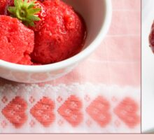 Fresh Strawberry Sorbet Sticker