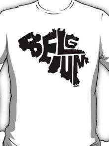 Belgium Black T-Shirt