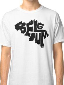 Belgium Black Classic T-Shirt