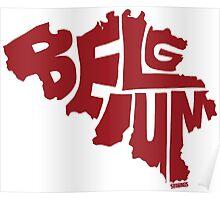 Belgium Red Poster