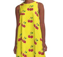 Cherry background A-Line Dress