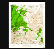 USGS TOPO Map Arizona AZ Bagdad 314352 1945 62500 Unisex T-Shirt