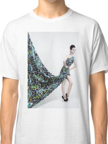 woman with long dress Classic T-Shirt