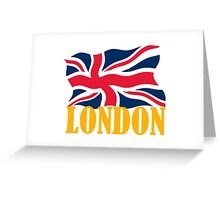 LONDON GOLD Greeting Card