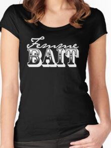 Femme Bait (cursive) Women's Fitted Scoop T-Shirt