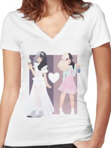 Melanie Martinez - Tag, You're It / Milk and Cookies Women's Fitted V-Neck T-Shirt