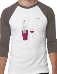 by Bethany - RED wine Men's Baseball ¾ T-Shirt