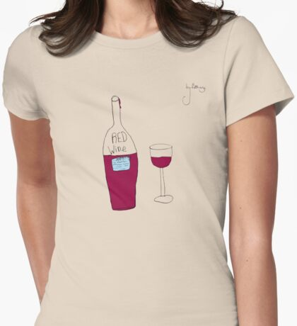 by Bethany - RED wine Womens Fitted T-Shirt
