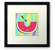 Acid Watermelon Cocktail Framed Print