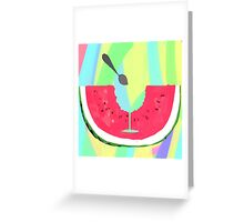 Acid Watermelon Cocktail Greeting Card