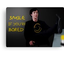 Smile if You're Bored Sherlock Canvas Print