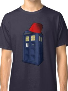 Tardis with a Fez Classic T-Shirt
