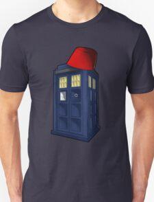Tardis with a Fez Unisex T-Shirt