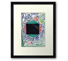 squ-mirror Framed Print
