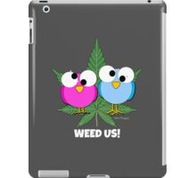 Cute Funny Stoned Birds Stoner Girly Weed Design iPad Case/Skin